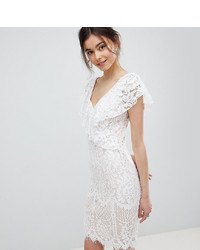 Vestido Tubo de Encaje Blanco de City Goddess Tall