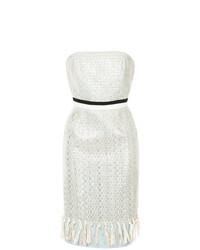 Vestido Tubo de Encaje Blanco de Han Ahn Soon