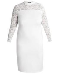 Vestido Tubo de Encaje Blanco de Missguided