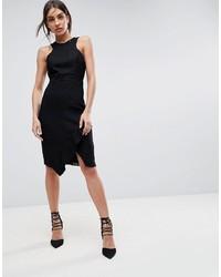 Vestido tubo de encaje negro de Adelyn Rae