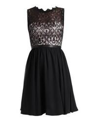 Vestido Tubo de Encaje Negro de Laona