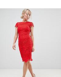 Vestido tubo de encaje rojo de Paper Dolls Petite