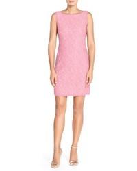 Vestido tubo de encaje rosado