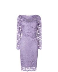 Vestido tubo de encaje violeta claro de Olvi´S