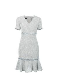 Vestido tubo de lana gris de Talbot Runhof