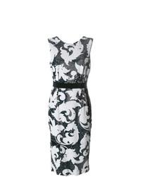 Vestido tubo de lentejuelas bordado negro de Marco Bologna