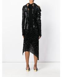 Vestido tubo de lentejuelas negro de Magda Butrym