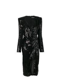Vestido tubo de lentejuelas negro de David Koma