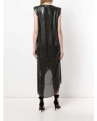 Vestido tubo de lentejuelas negro de Versace Vintage