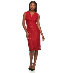 Vestido tubo de lentejuelas rojo