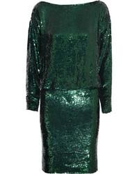 Vestido tubo de lentejuelas verde de Givenchy