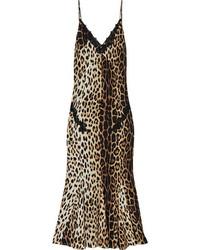Vestido tubo de leopardo marrón de Moschino Cheap & Chic