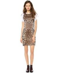 Vestido tubo de leopardo marrón de Rodarte