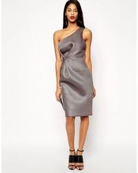 Vestido tubo de malla gris de Asos