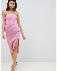 Vestido tubo de malla rosado de ASOS DESIGN
