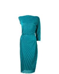 Vestido tubo de punto en verde azulado de A.F.Vandevorst