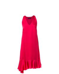 Vestido tubo de satén rosa de Gloria Coelho