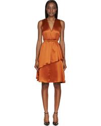 Vestido tubo de seda naranja de Givenchy