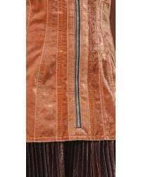 Vestido tubo de terciopelo en tabaco de 3.1 Phillip Lim
