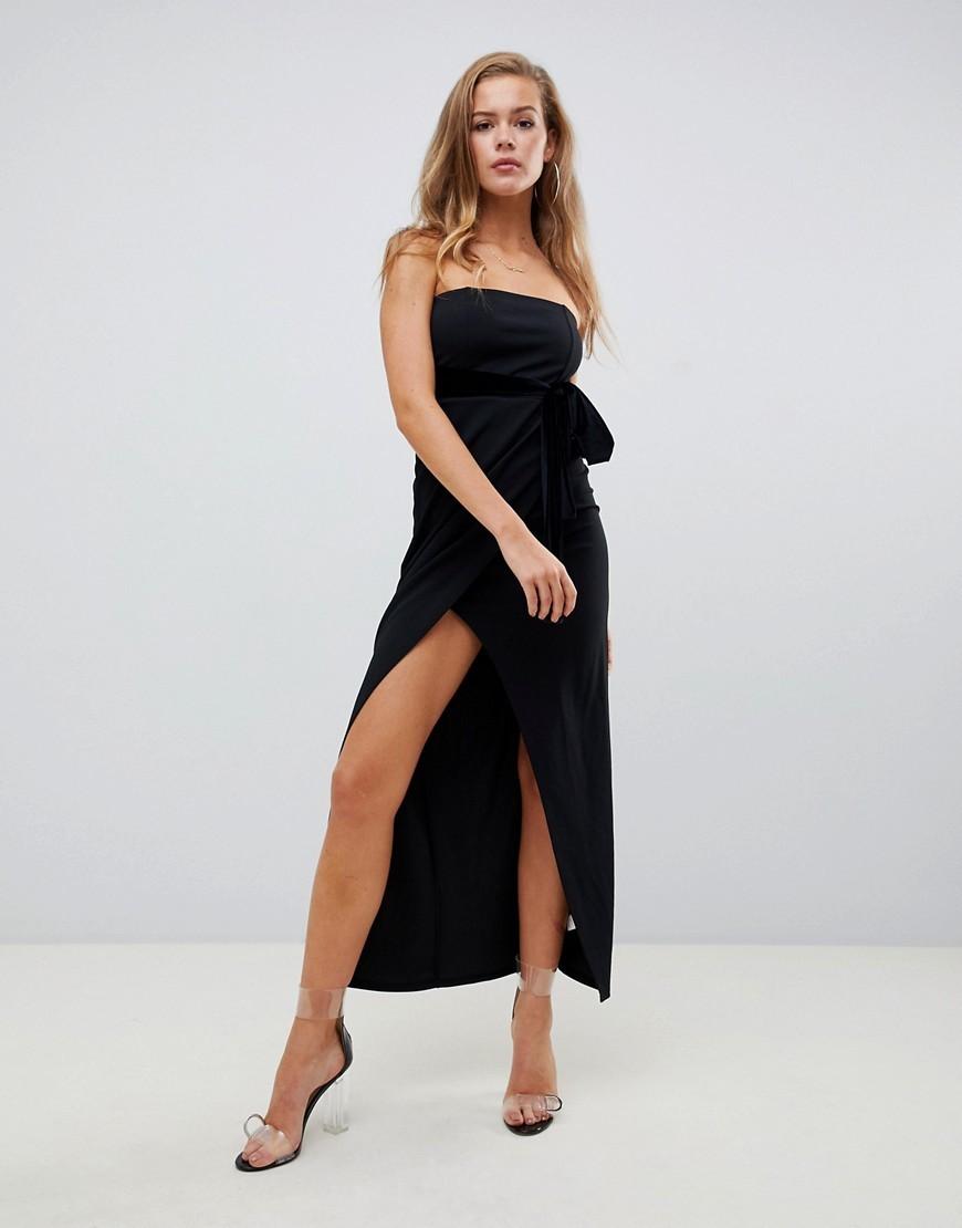 460e216da ... Vestido tubo de terciopelo negro de Missguided