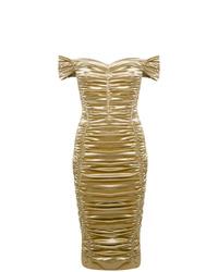 Vestido tubo dorado de Dolce & Gabbana