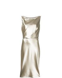 Vestido tubo dorado de Nili Lotan
