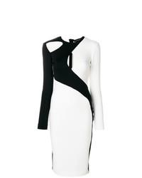 Vestido tubo en blanco y negro de David Koma