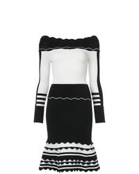 Vestido tubo en blanco y negro de Yigal Azrouel