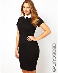 Vestido tubo en negro y blanco de Asos Curve