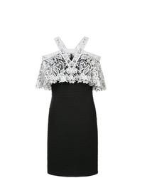 Vestido tubo en negro y blanco de Tadashi Shoji