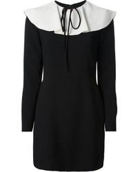 Vestido tubo en negro y blanco de Valentino