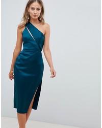Vestido tubo en verde azulado de ASOS DESIGN