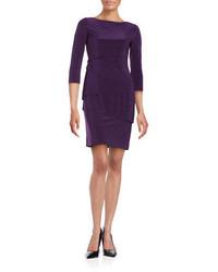 Vestido tubo en violeta