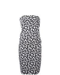 Vestido tubo estampado en blanco y negro de Yves Saint Laurent Vintage