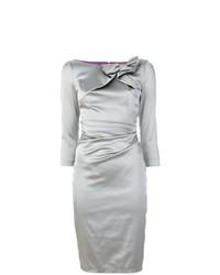 Vestido tubo gris de Talbot Runhof