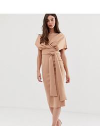 Vestido tubo marrón claro de Asos Tall