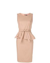 Vestido tubo marrón claro de Paule Ka