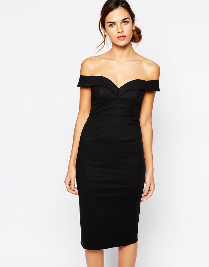 Vestido negro en tubo