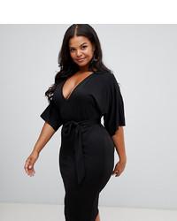 Vestido tubo negro de PrettyLittleThing Plus