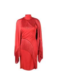 Vestido tubo сon flecos rojo de Givenchy