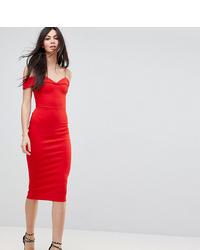 Vestido tubo rojo de Asos Tall