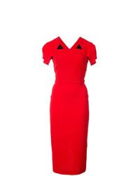 Vestido tubo rojo de Roland Mouret
