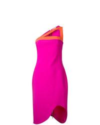 Vestido tubo rosa de Mugler