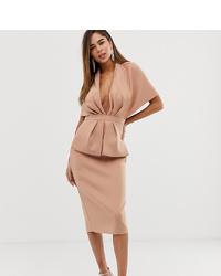 Vestido tubo rosado de ASOS DESIGN