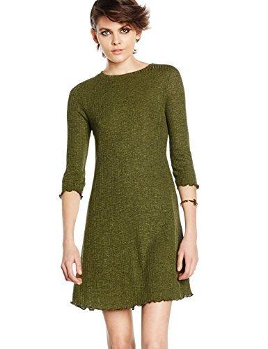 24 Vestido Verde Oliva De New Look