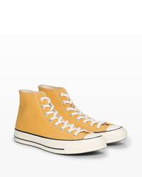 Zapatillas altas amarillas