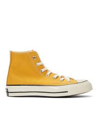Zapatillas altas amarillas de Converse