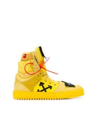 Zapatillas altas amarillas de Off-White