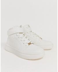 Zapatillas altas blancas de Bershka