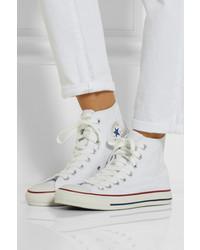 zapatillas converse blancas altas